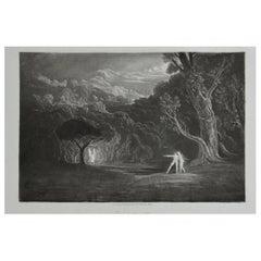 Mezzotint by John Martin, Approach of the Angel Raphael, Washbourne, 1853