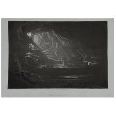 Mezzotint by John Martin, Creation of Light, Washbourne, 1853