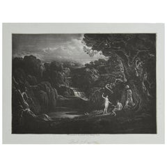 Mezzotint by John Martin, Eve Presenting the Forbidden Fruit, Washbourne, 1853