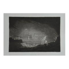 Mezzotint by John Martin, Pandemonium, Washbourne, 1853