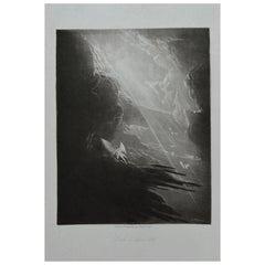 Mezzotint by John Martin, Satan Viewing the Ascent to Heaven, Washbourne, 1853