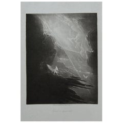 Mezzotint by John Martin, Satan Viewing the Ascent to Heaven, Washbourne, 1853