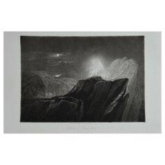 Mezzotint by John Martin, the Angels Guarding Paradise, Washbourne, 1853
