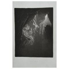 Mezzotint by John Martin, the Fall of the Rebel Angels, Washbourne, 1853