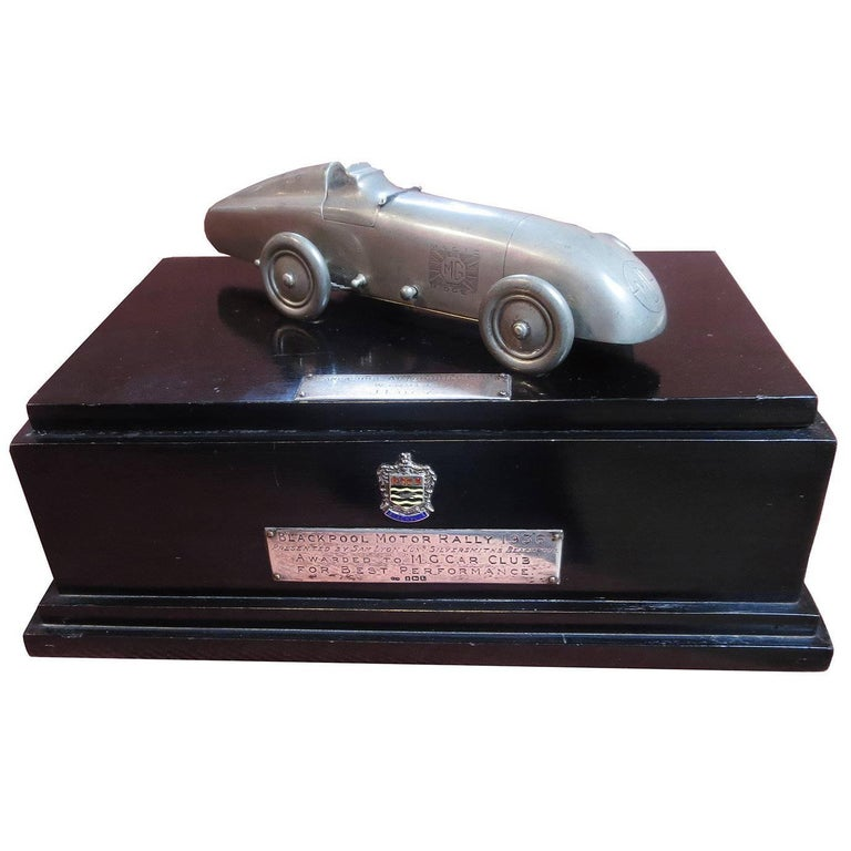 M.G. Car Club Award from Blackpool Motor Rally, 1936 For Sale