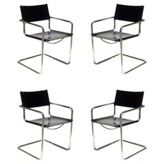 """MG5"" Marcel Breuer by Matteo Grassi Bauhaus Set of Four Chairs"