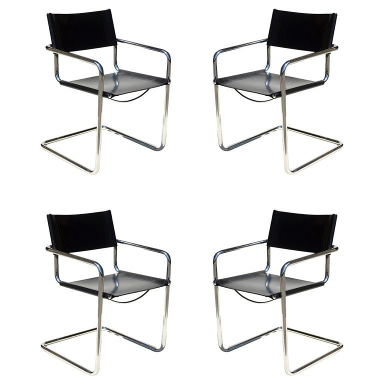 """MG5"" Marcel Breuer by Matteo Grassi Bauhaus Set of Four Chairs"