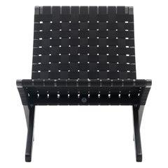 MG501 Cuba Chair in Black Cotton Webbing by Morten Gøttler