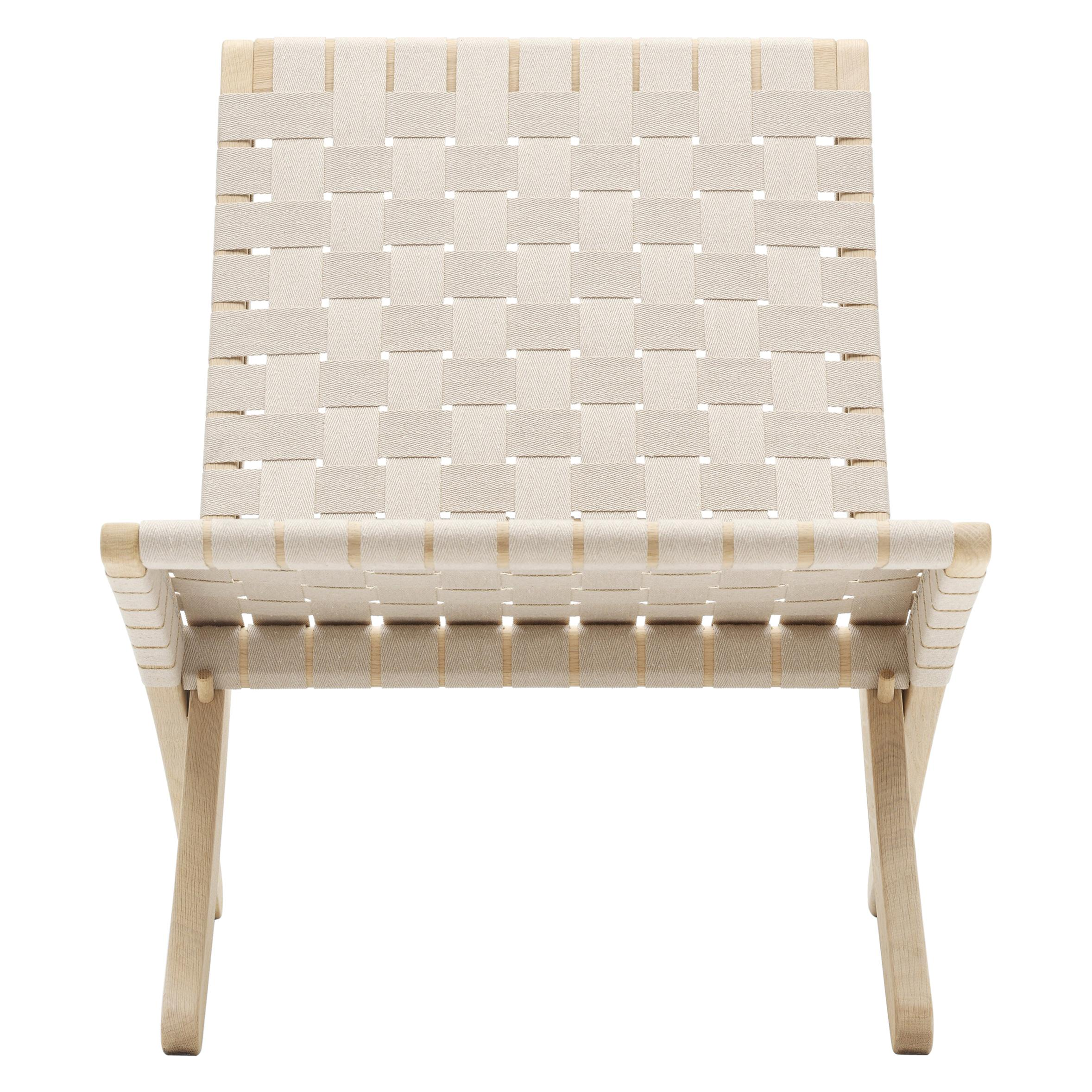 MG501 Cuba Chair in Natural Cotton Webbing by Morten Gøttler