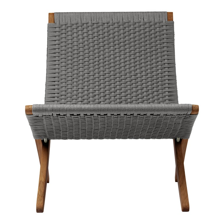 MG501 Cuba Outdoor Chair in Charcoal by Morten Gøttler For Sale