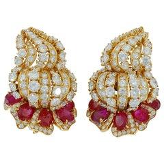 M.Gerard Diamond, Ruby Earrings