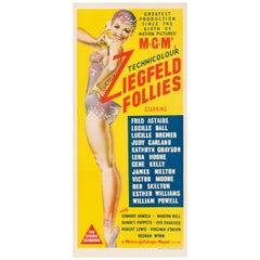"MGM's ""Ziegfeld Follies"" Original Vintage Australian Daybill Movie Poster, 1945"