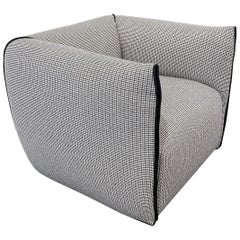 Mia Armchair in Gray Houndstooth Fabric by Francesco Bittoni & MDF Italia