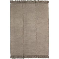Mia Large Stone Hand-Loomed Wool Dhurrie Rug by Nani Marquina in Stock