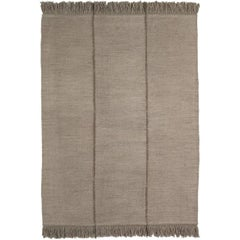 Mia Medium Stone Hand-Loomed Wool Dhurrie Rug by Nani Marquina