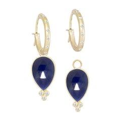 Mia Small Blue Sapphire 18 Karat Gold Earrings