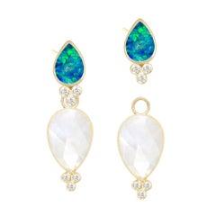 Lilly Opal & Mia Small Moonstone 18 Karat Gold Earrings