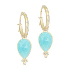 Mia Small Turquoise 18 Karat Gold Earrings
