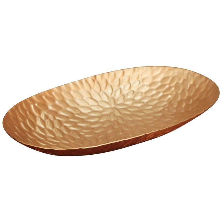 Mia Tray in Matte Copper by CuratedKravet For Sale