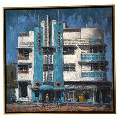 Miami Art Deco District Painting #2 by Eric Alfaro