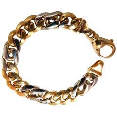 Miami Cuban Link Bracelet 14 Karat Two-Tone