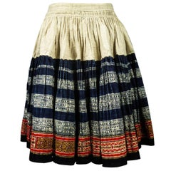 Miao - Hmong Pleated Skirt - Thailand Circa 1950