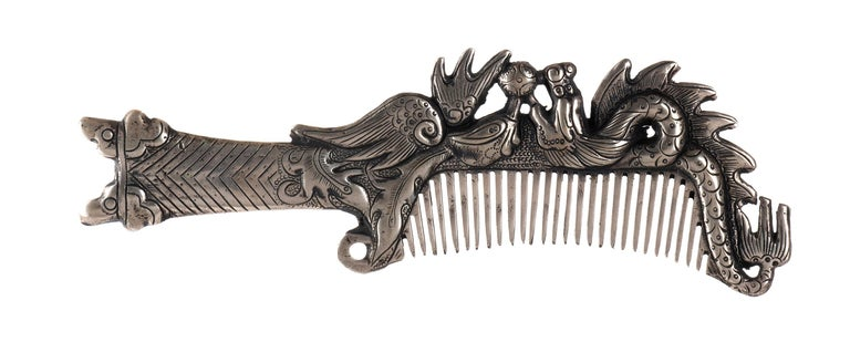 Miao Paktong Comb, Laos, Early 20th Century In Good Condition For Sale In Roma, IT
