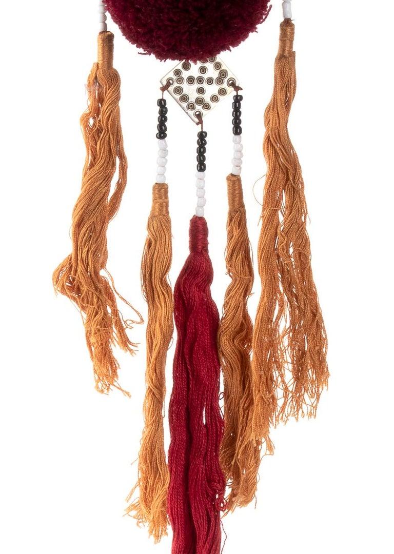 Tibetan Miao Paktong Hair Comb, Laos, 1970s For Sale