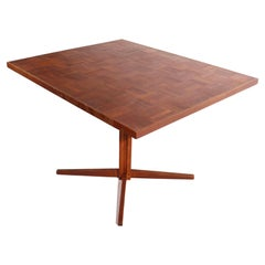 Mid Century Pedestal Dining Cafe Table in the Style of Frank Lloyd Wright
