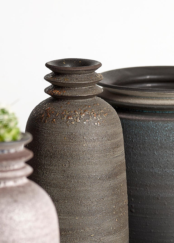 American Mica Ore, Vessel O, Slip Cast Ceramic Vase, N/O Vessels Collection For Sale