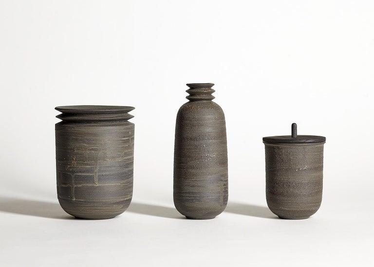 Mica Ore, Vessel O, Slip Cast Ceramic Vase, N/O Vessels Collection In New Condition For Sale In Oakland, CA