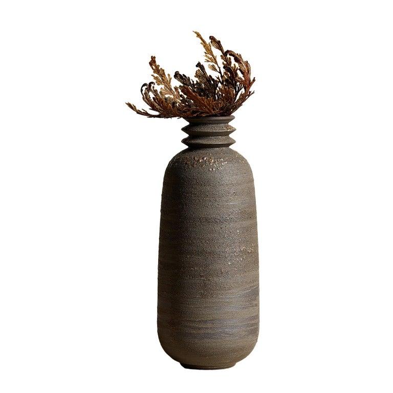Mica Ore, Vessel O, Slip Cast Ceramic Vase, N/O Vessels Collection For Sale