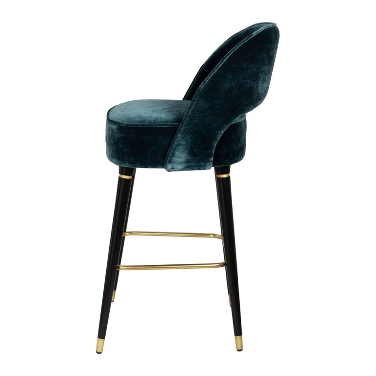 Stained Mich Bar or Counter Stool For Sale