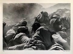 Vintage Silver Gelatin Print Artillery Barrage, Suez Canal, Yom Kippur War 1973