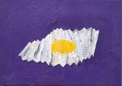 Foldable Egg - Micha Wille 21st Century Figurative Painting Purple Egg Unique