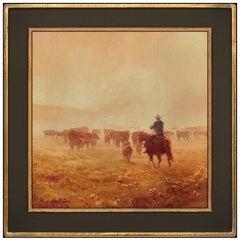 Michael Albrechtsen Original Oil Painting On Canvas Western Wildlife Signed Art