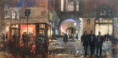 Air Street, Piccadilly - original figurative cityscape painting 21st C modern