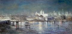 Capital 2 EC4 original city landscape painting