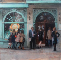 Fortnum and Mason Windows - original city painting modern Contemporary Art
