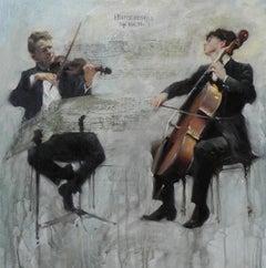 Humoresque - original figurative painting Contemporary Art