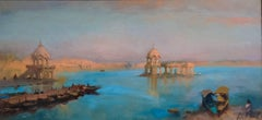 India - Landscape Oil Painting of India Modern Contemporary Art 21st Century