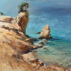 Late Summer 2 - original landscape beach painting Contemporary Art seascape