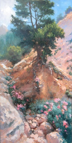 Midday - original landscape Europe Italy holiday impressionist oil painting