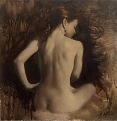 Nude Painting III - Original Female Figure Oil Painting Contemporary Art 21st C