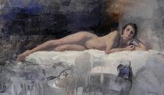 Nude Study VI - Original Oil Painting Female Nude Contemporary Artwork