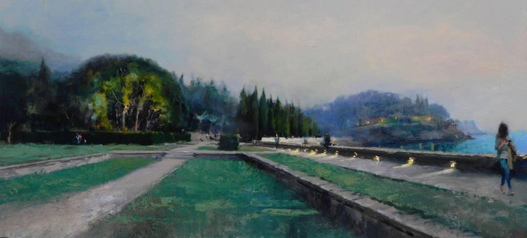 Michael Alford Abstract Painting - Park Panorama original city landscape painting