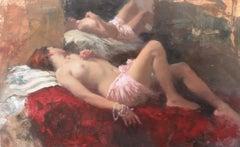 Sleeping Nude, Rose & Crimson