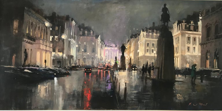 Michael Alford Abstract Painting - Strand London original city landscape painting Contemporary Impressionism Art
