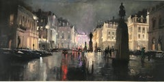 Strand, London - original cityscape oil painting contemporary impressionism art
