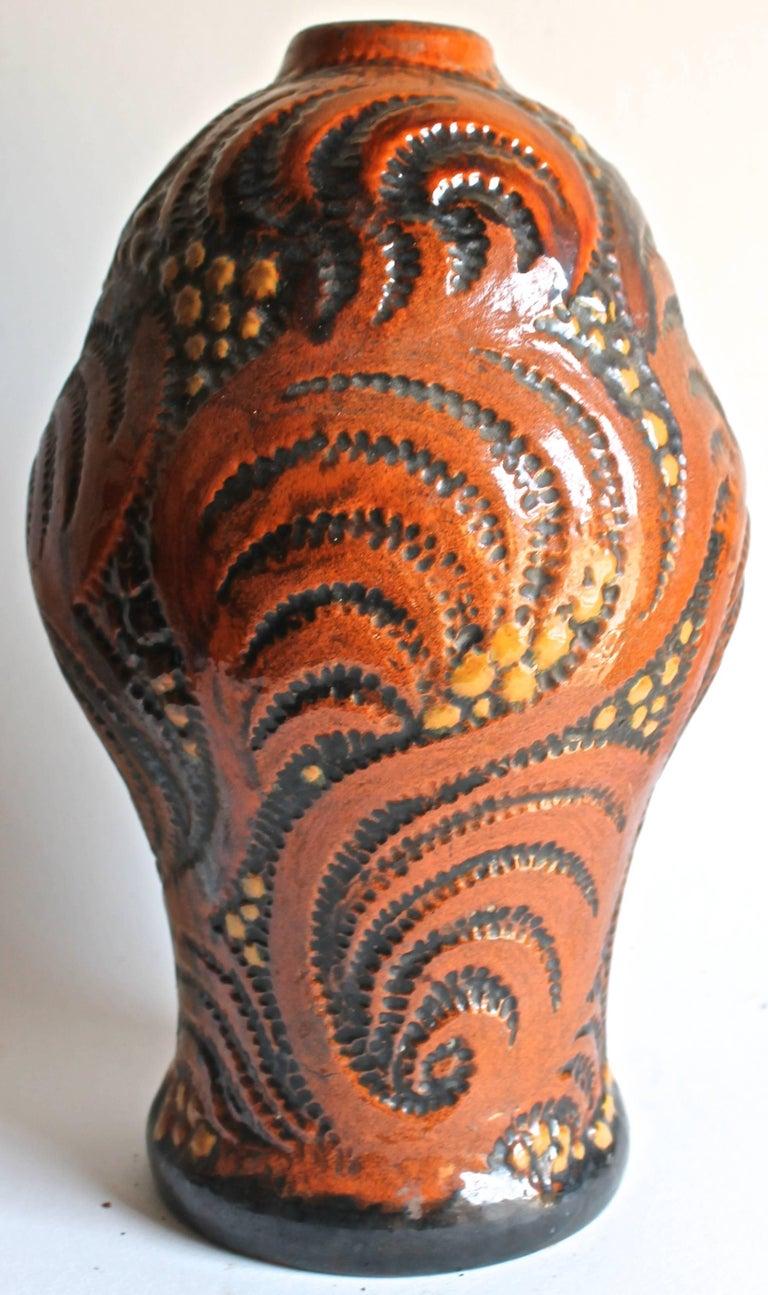 Danish Michael Andersen & Sons Ceramic Art Nouveau Lamp Base For Sale